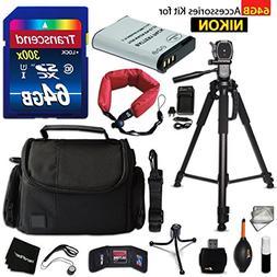 64GB Accessory Kit for Nikon CoolPix B700, P900, P610, P600