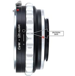 Adapter To Convert Nikon F-Mount Lens to MFT Lens For Mirror