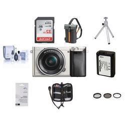 Sony Alpha A6000 Camera Bundle with 16-50mm Lens. Value Kit