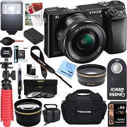 Sony Alpha a6000 24.3MP Mirrorless Camera 16-50mm Power Zoom