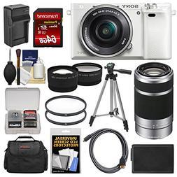 Sony Alpha A6000 Wi-Fi Digital Camera & 16-50mm Lens  with 5