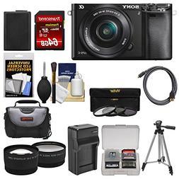 Sony Alpha A6000 Wi-Fi Digital Camera & 16-50mm Lens with 64