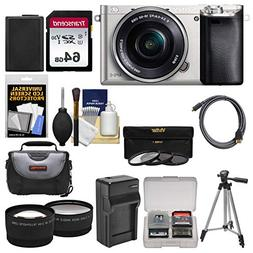 Sony Alpha A6000 Wi-Fi Digital Camera & 16-50mm Lens  with 6