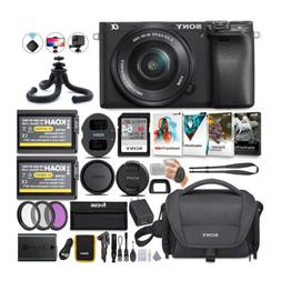 Sony Alpha a6100 APS-C Mirrorless Camera w/ 16-50mm Lens & S