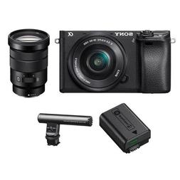 Sony Alpha A6300 Mirrorless Camera Black with 16-50mm f/3.5-