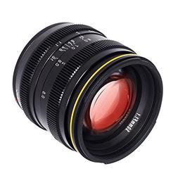 Kamlan 50mm F1.1 APS-C Large Aperture Manual Focus Lens, Sta