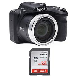 Kodak AZ401BK Point & Shoot Digital Camera with 40X Zoom, Op
