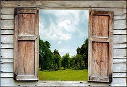 Yeele Backdrops 10x8ft /3 X 2.4M Open The Window Lawn in Gar