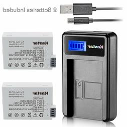 Kastar Battery and LCD Slim USB Charger for Canon LP-E8 EOS