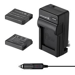 Powerextra 2 Pack Battery and Charger Compatible With Panaso
