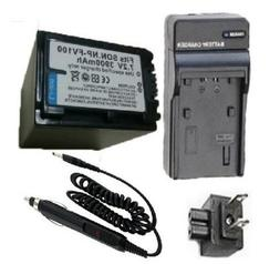 Battery and Charger for Sony NP-FV30 NP-FV50 NP-FV70 NP-FV10