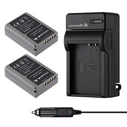 Powerextra 2 Pack Battery and Charger for Olympus BLN-1, BCN
