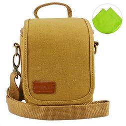 First2savvv BDV1701 yellow cavans DSLR SLR camera case bag f