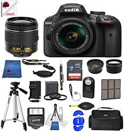 Nikon Black D3400 w/AF-P DX NIKKOR 18-55mm VR Lens Kit  USA
