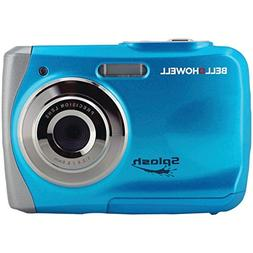 Blue Waterproof Digital Camera Bell+Howell 12.0MP WP7 Splash