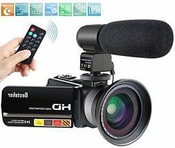 Camcorder,Besteker 1080P IR Night Vision Camcorders Full HD