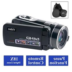 SUNLEA Camcorder Video Camera Full HD 1080p 24.0MP Camcorder