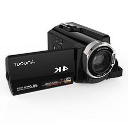 4K Video Camcorder, Andoer Camcorder 48MP Digital Video Came