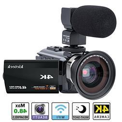 Video Camera Camcorder 4K kicteck Ultra HD Digital WiFi Came