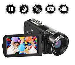 SEREE camcorder Video Camera Full HD 1080p Digital Camera 24