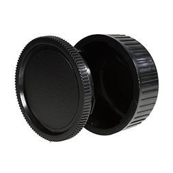 CamDesign Body Cap & Camera Rear Len Cover Set for Pentax *i