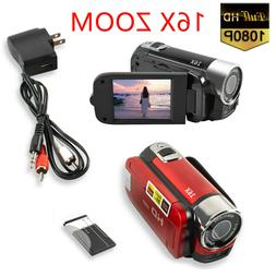 Camera 1080P HD Camcorder Digital Video Camera 16x Zoom HD D