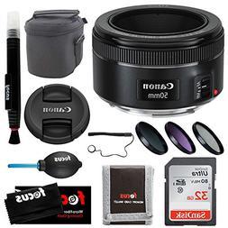 Focus Camera Canon EF 50mm f/1.8 STM Standard Prime Lens wit