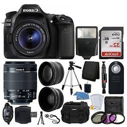 Canon EOS 80D DSLR Camera Body + Canon EF-S 18-55mm f/3.5-5.