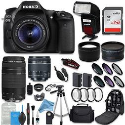 Canon EOS 80D DSLR Camera + Canon EF-S 18-55mm + Canon EF 75