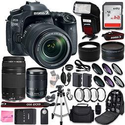 Canon EOS 80D DSLR Camera Quadruple Lens Photographer PRO BU