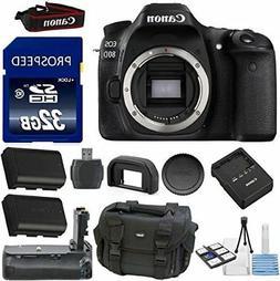 Canon EOS 80D Digital SLR Camera Body Kit 33rd Street Bundle
