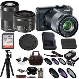 Canon EOS M100 Mirrorless Camera w/ 15-45mm & 55-200mm Lense
