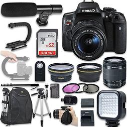 Canon EOS Rebel T6i DSLR Camera with Canon EF-S 18-55mm f/3.