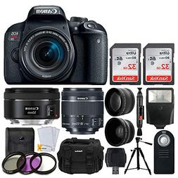 Canon EOS Rebel T7i DSLR Camera + EF-S 18-55mm f/4-5.6 is ST