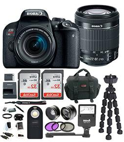 Canon EOS Rebel T7i DSLR Camera w/18-55mm lens & 64GB Deluxe