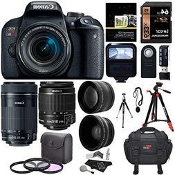 Canon EOS Rebel T7i EF-S 18-55 is STM Kit, EF 55-250mm II, 6