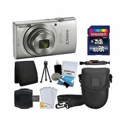 Canon PowerShot ELPH 180 Digital Camera  + Transcend 16GB Me