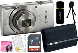 Canon PowerShot ELPH 180 20MP 8x Zoom Digital Camera  + 32GB