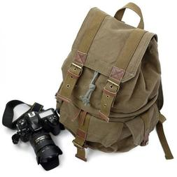 Yimidear Canvas DSLR SLR Camera Backpack Travel Daypack Cool