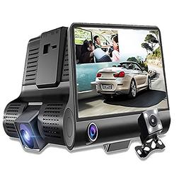SQDeal Car Dash Cam Dual Lens, FHD 1080p Car DVR Dash Video