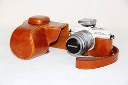 Case Premium OLYMPUS Pen E-PL7 EPL7 Brown Leather Camera Cas
