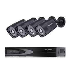 TOROCAT CCTV Security Camera Systems 8CH AHD DVR Kit + 4x 10