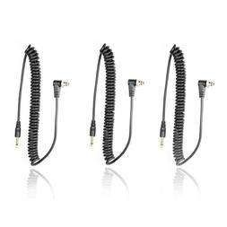 Foto&Tech 3.5 mm to Male Flash PC Sync Cable 14-Inch Coiled