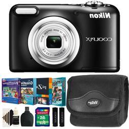 Nikon Coolpix A10 16MP Digital Camera Black w/ Kids Photo Ed