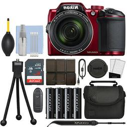 Nikon Coolpix B500 16MP Digital Camera 40x Optical Zoom Red