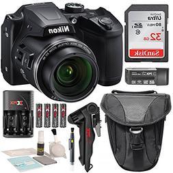 Nikon COOLPIX B500 Digital Camera along with 32GB SDHC Memor