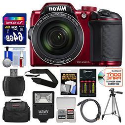 Nikon Coolpix B500 Wi-Fi Digital Camera  with 64GB Card + Ca