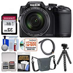 Nikon Coolpix B500 Wi-Fi Digital Camera  with 32GB Card + Ca