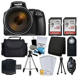 Nikon COOLPIX P1000 16MP Digital Camera  + 64GB Complete Acc