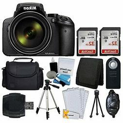 Nikon COOLPIX P900 Digital Camera + Transcend 2X 32GB Memory